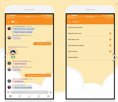 BBM Mod CandyLight 3.3.5.49 Apk Full DP Terbaru