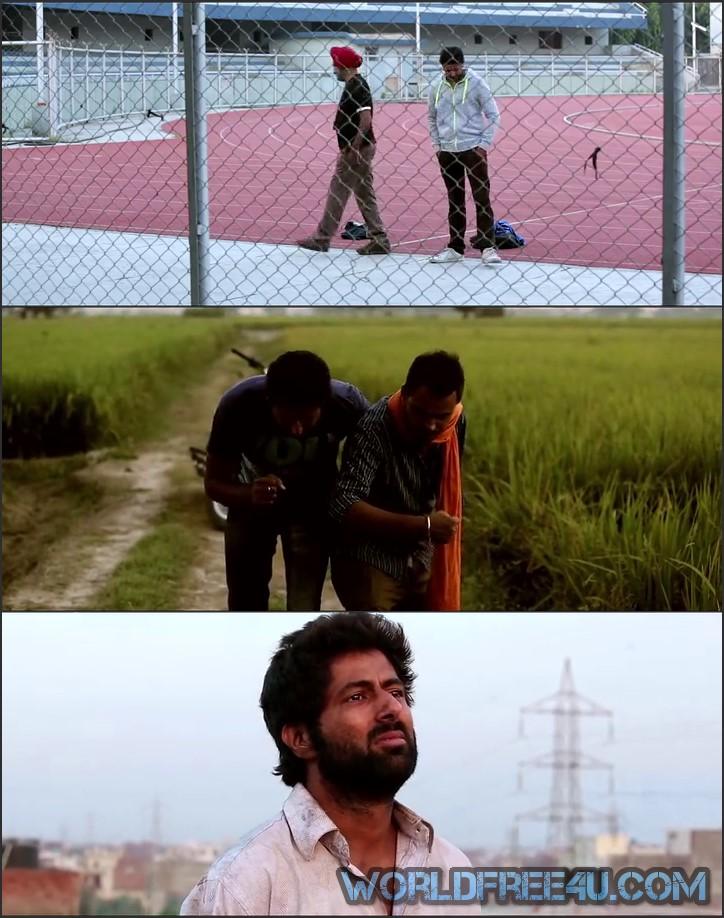 Screen Shot Of Bathinda Express 2016 300MB HDRip 480P Full Punjabi Movie Watch Online Free Download