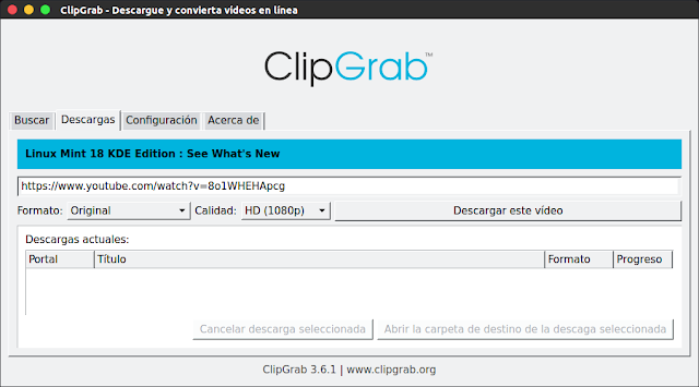 Descarga vídeos fácilmente con ClipGrab en Ubuntu - El Blog de HiiARA