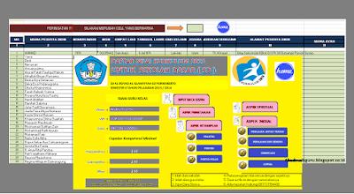 Aplikasi Pengolahan Nilai SD,SMP,SMA 2017 Lengkap