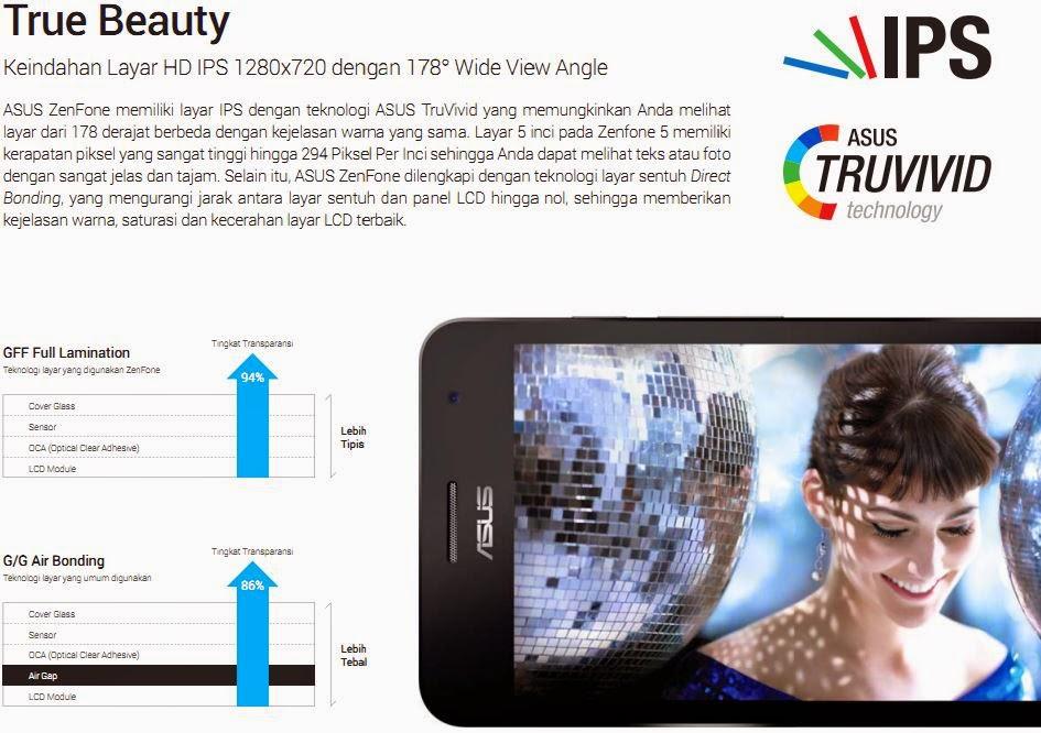 Asus TRUVIVID Layar HD IPS
