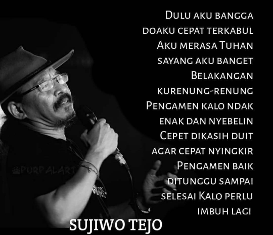 Sujiwo Tejo doa dan pengamen