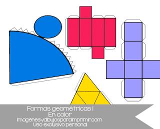Figuras geométricas recortables para imprimir en color