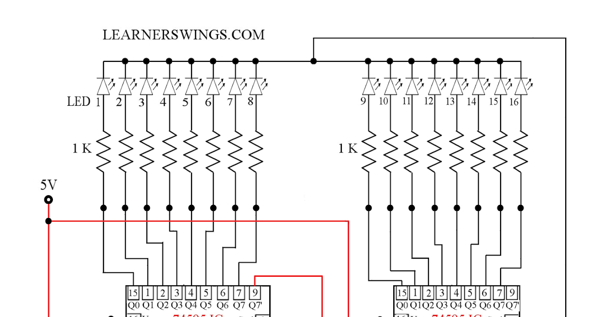 Cascade Operation of Two 74595 Shift Registers using