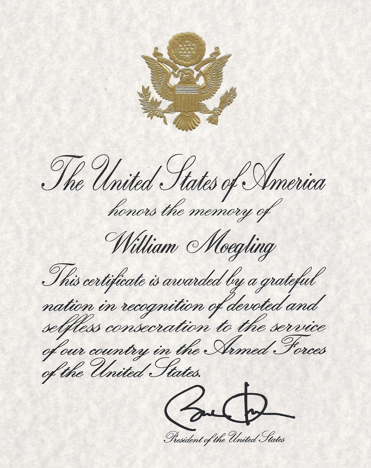 Ancient Geek Fumes Corporal William Moegling Awarded A Presidential