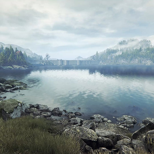 Peaceful Lakeside View Wallpaper Engine