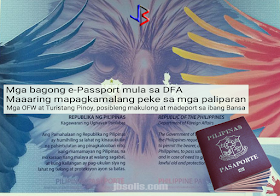 """A government watchdog and anti-corruption advocate Action for Good Governance has raised the alarm about the possibility of Filipino travelers getting detained and deported back to the Philippines after they have discovered alleged unauthorized changes in materials and security features of the new digital passport or e-passport.  The group's convenor, Atty. Argee Guevarra, argues that the quality of the new batch of passports are substandard. He showed a leaf from a supposed newly printed passport given to him by his informant, saying the new print is thinner and the embedded watermarks are not that clear.  This apparent change may cause the passports to be suspected as fake or forgeries and will not pass the reading machines at airports locally and internationally. This might result in possible detention and deportation of Filipino passport holders. The scenario would be """"a nightmare"""" for OFWs who may end up jobless and detained abroad.  The DFA, under former Sec. Alberto del Rosario, touted the new e-passport in 2016. The new design was unveiled during former President Aquino's visit to the Asian Productivity Organization - Production Unit's high-security printing plant at Lima Technology Center in Batangas, which currently prints the BIR's excise stamps. APO-PU later granted United Graphic Expression Corporation, a private company, a ten-year P39 Billion contract to print 150,000 to 200,000 new passports and renewals annually.  The passport's electronic covers which contain the chip are being assembled in Europe, while booklet printing is being done by the Bangko Sentral ng Pilipinas and the personalization by the Department of Foreign Affairs. A whistle-blower allegedly told Guevarra that the APO-PU UGEC deal was without DFA permission - at a time when the backlog for passport applications were at its height.  Upon his appointment as DFA Secretary under President Duterte, Sec. Perfecto Yasay has considered the APO-PU deal with UGC anomalous. Only three entities """