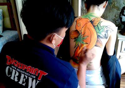 Body Painting Koi Fish Jakarta