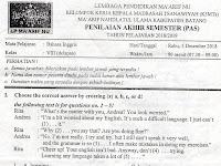 Soal Uas Semester 1 Kelas 7 Kurikulum 2013
