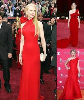 famosas com vestido vermelho