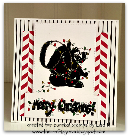Created In the Crafting Cave with Lisa - So Stinkin Cute Christmas Card