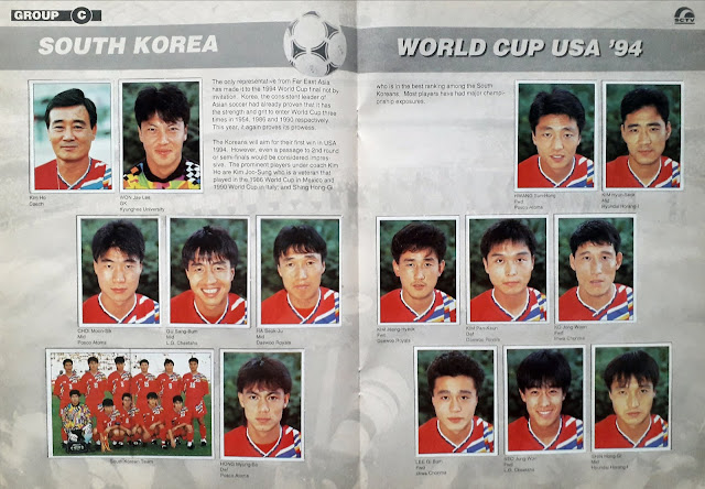 WORLD CUP USA '94 STICKER ALBUM COLLECTION GROUP C SOUTH KOREA