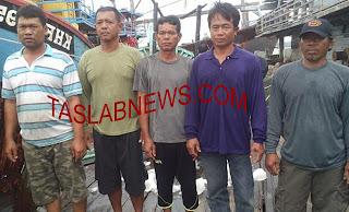 Kelima ABK warga Thailand yang mencuri ikan di Selat Malaka.