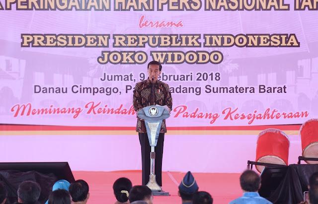 Presiden Jokowi: Di Era Lompatan Teknologi Informasi, Pers Justru Makin Diperlukan - Info Presiden Jokowi Dan Pemerintah