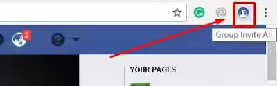 click on add all friend extention icon