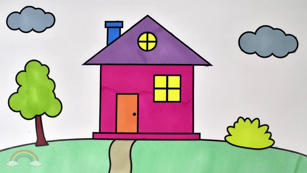 Gambar Mewarnai Aneka Jenis Rumah Sederhana Gambar Mewarnai