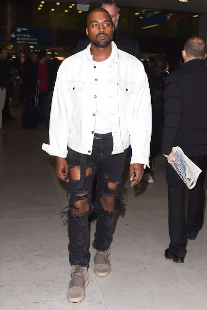 Kanye West destroyed jeans