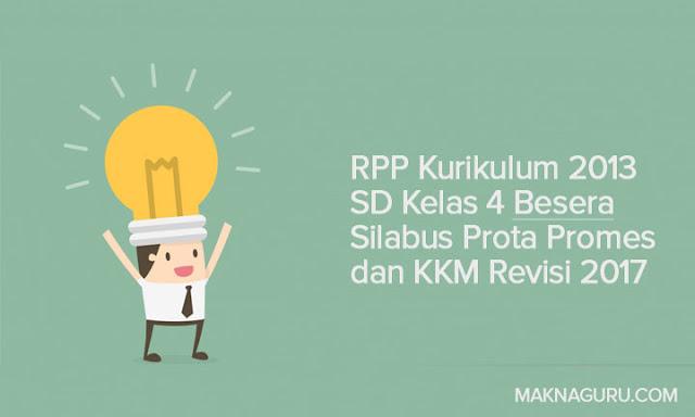 RPP Kurikulum 2013 SD Kelas 4 Besera Silabus Prota Promes dan KKM Revisi 2017