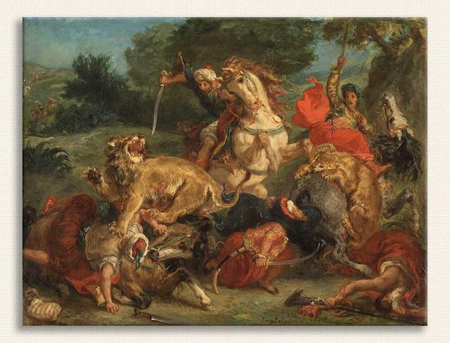 Eugene Delacroix Aslan Avı