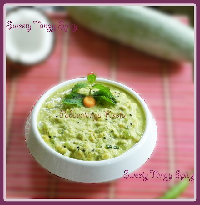 Padavalanga Kootu / Snake Gourd Bengal Gram Stir Fry