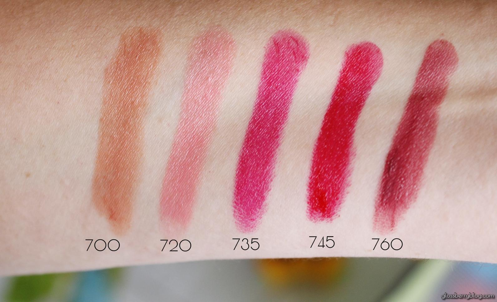 שפתוני Ultra HD Gel Lipcolor lipstick review swatches סקירה המלצה 700sand 720 pink cloud 735 garden 745 rhubarb 760 vineyard רבלון גלוסברי בלוג איפור וטיפוח ג'ל