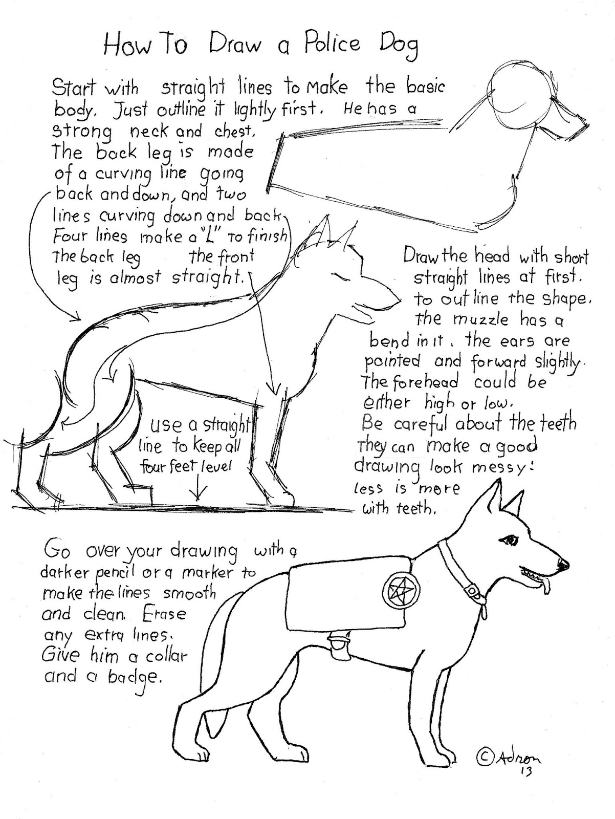How to Draw Worksheets for The Young Artist February 2013 – Stone Fox Worksheets