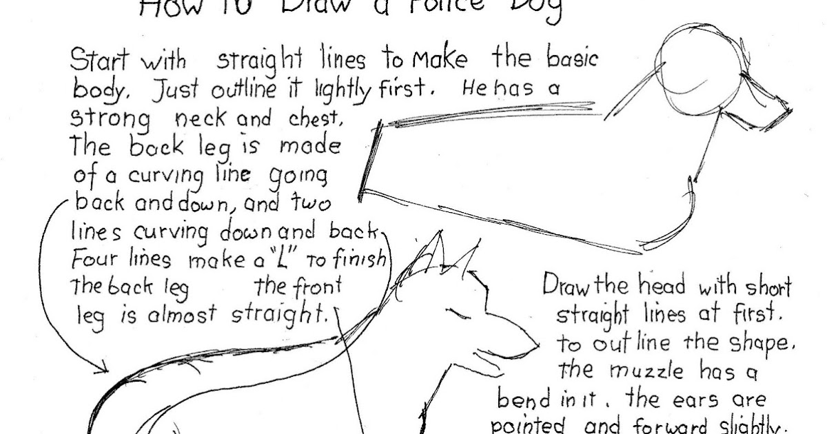 how to draw a police dog