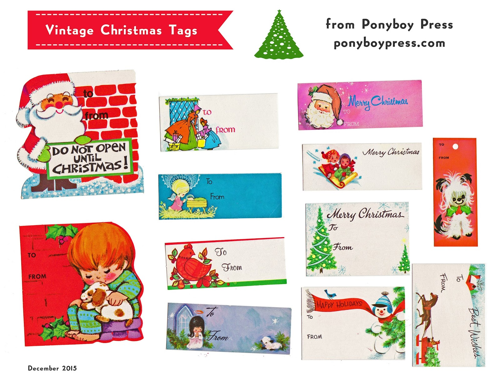 Ponyboy Press Zine Maker Design Lover Dedicated Homebody Vintage Christmas Gift Tags Free Printable