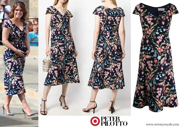 Princess Eugenie of York wore PETER PILOTTO floral print dress