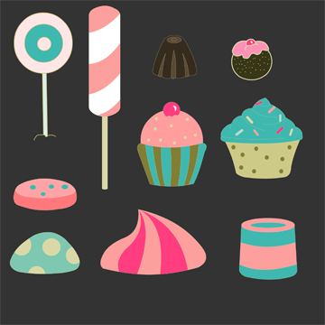Concept Art 04 Candy Props