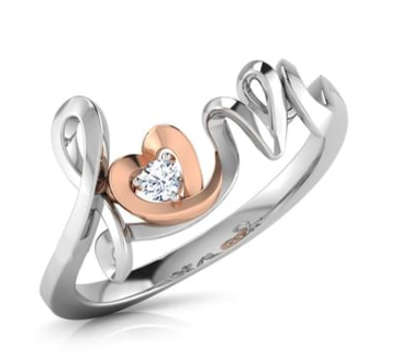 Love Heart Ring Caratlane