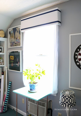 One Room Challenge Week 6 Home Office Sewing Craft Room Transformation DIY window cornice