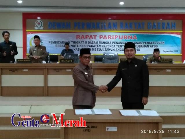 DPRD-Pemkab Mesuji Sepakati APBD Perubahan TA 2018, Pendapatan Naik Rp19,5 Milyar