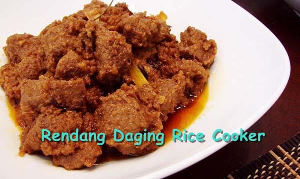 Cara Membuat Rendang Daging Rice Cooker Empuk dan Sederhana
