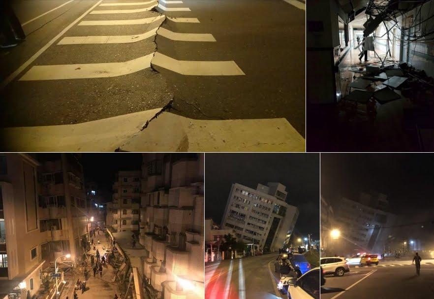 Immagini forti da Taiwan: anche questo Terremoto M6,4 conseguenza del cambio di rotazione della Terra?