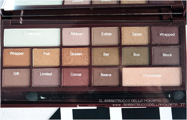 golden Bar recensione makeup revolution palette choccolate
