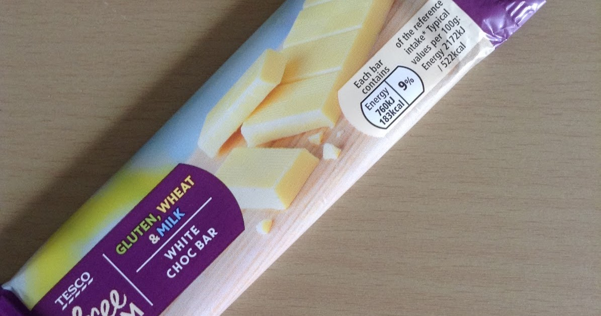 Tesco Free From White Choc Bar Review
