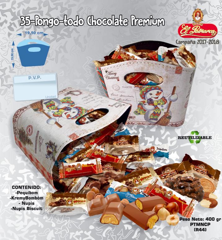 Pongo-Todo Surtido Chocolate Premium El Patriarca 400 g - Comercial H. Martín sa