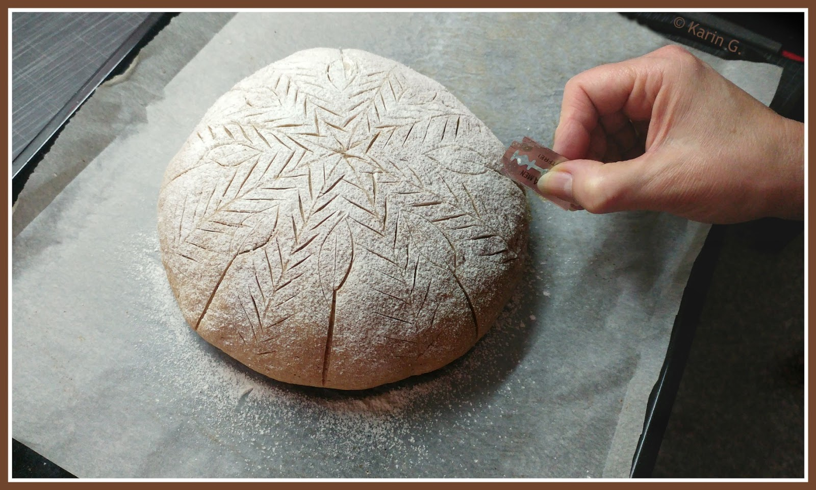Bread Stencil Leaf Brot Backen Lebensmittel 4
