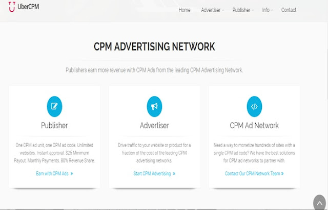 UberCpm ad network