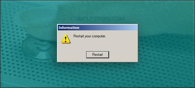 لماذا إعادة التشغيل الكثير مشاكل Restart your computer.png