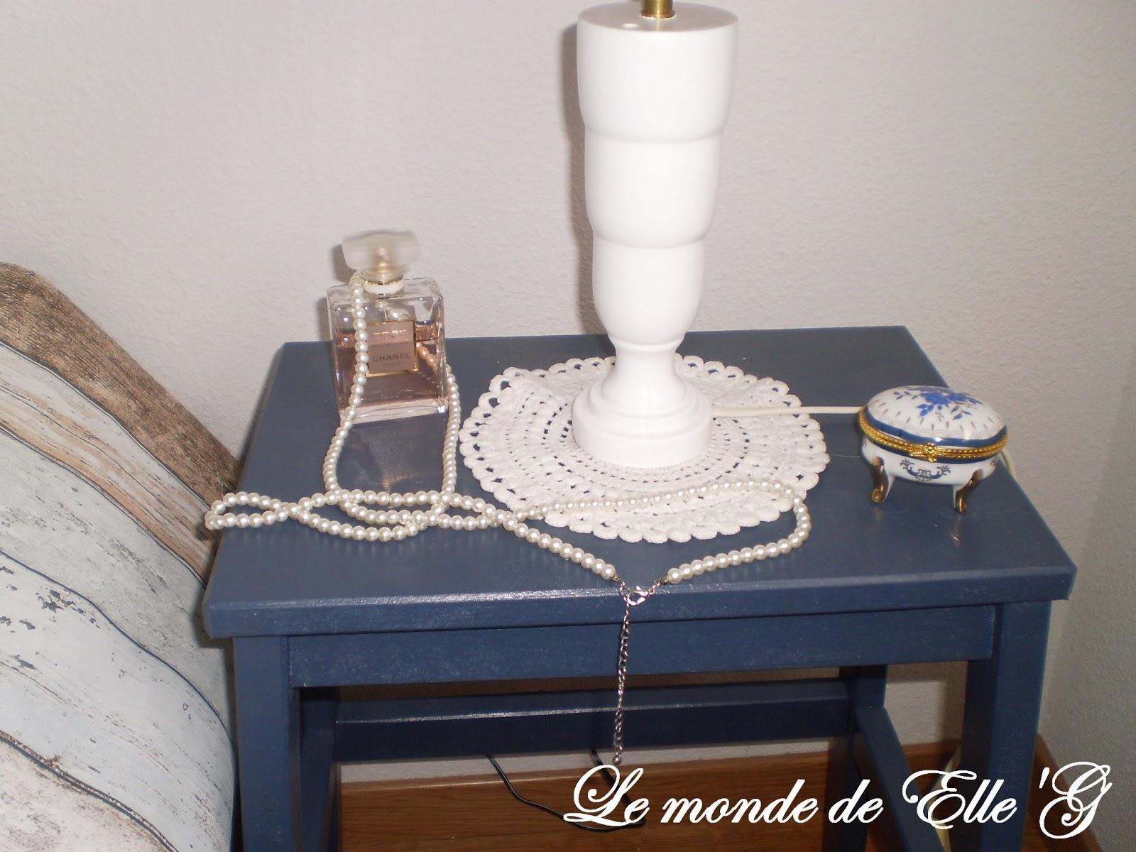 lampe de chevet romantique le monde de elle 39 g. Black Bedroom Furniture Sets. Home Design Ideas