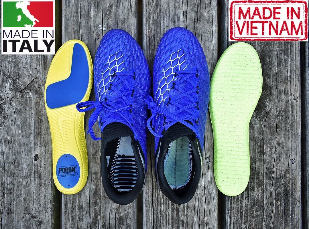 Quedar asombrado Imaginación exterior  Surprising Differences - Made in Italy vs Made in Vietnam Nike Hypervenom  Phantom Boots - Footy Headlines
