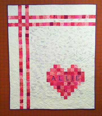 """Heart Quilt - 2.5""""  squares - Signature Quilt"""