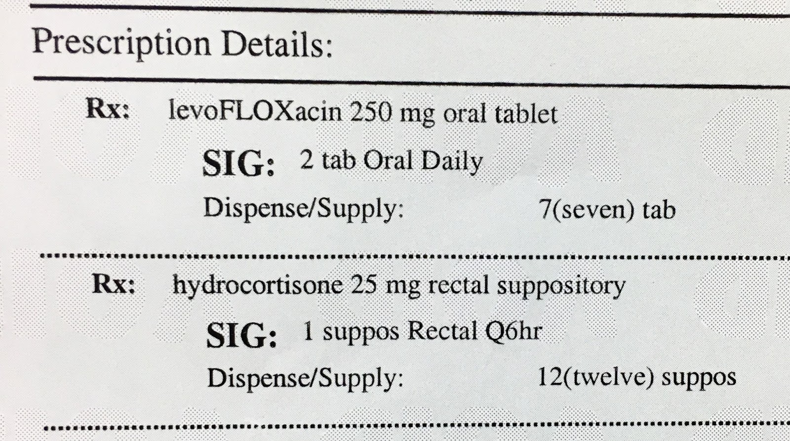 Crazy rxman june 2017 as it turns out this levaquin rx was meant to be a seven day supply not seven tabs as shown hexwebz Image collections