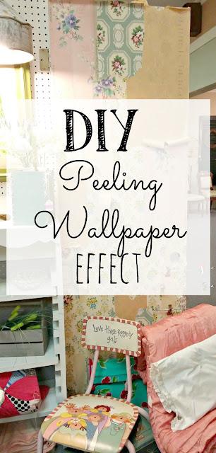 How to get an old, peeling wallpaper look