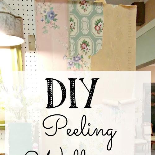 DIY Peeling Wallpaper Effect