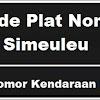 Kode Plat Nomor Kendaraan Simeulue