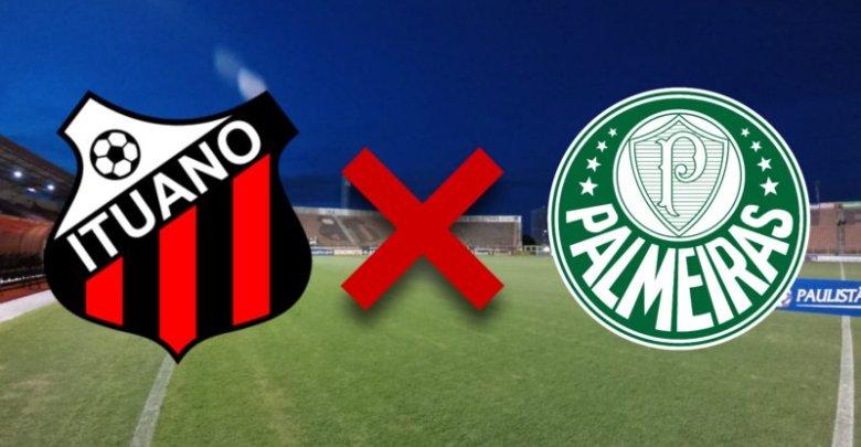 Onde assistir Ituano x Palmeiras pelo Campeonato Paulist