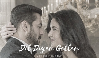 Dil Diyan Gallan Piano instrumental on chord in one